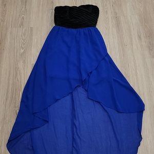 Cobalt Blue Strapless Dress